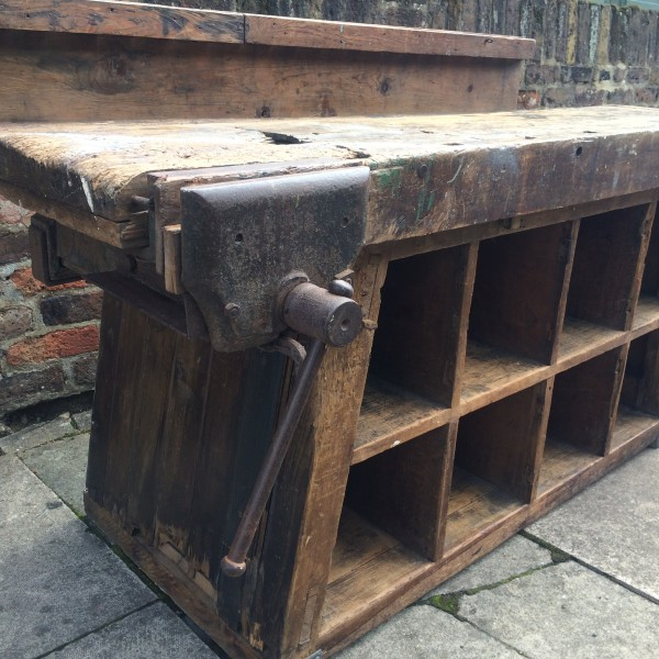 Industrial Kitchen Hire: Vintage Industrial Pigeon Holes & Work Bench