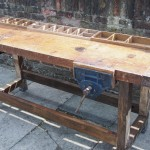Vintage industrial workbench sideboard