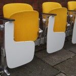 Vintage 1970s Castelli lecture cinema chairs