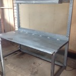 Industrial steel architects desk