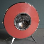Retro 'Spacemaster' heater converted lamp