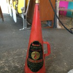 Vintage fire extinguisher pendant lamp