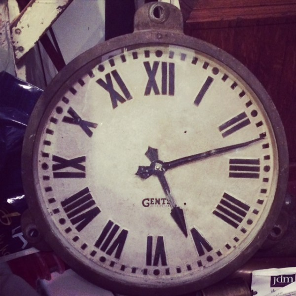 Gents of Leicester cast iron factory clock