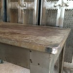 Vintage industrial metal desk table
