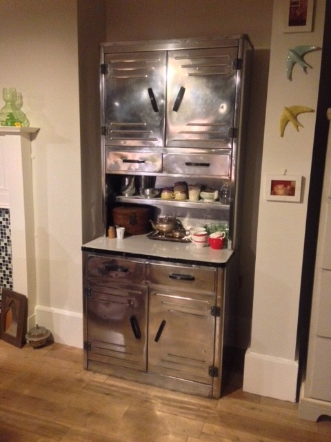 Metal kitchen unit in new home